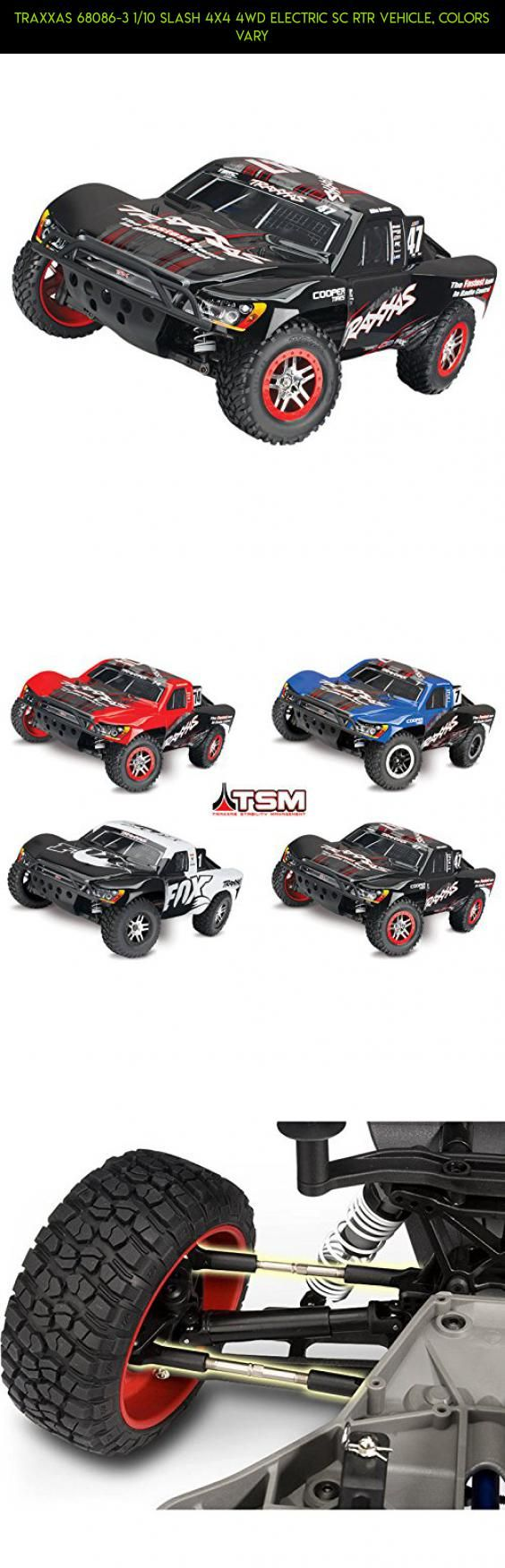 Traxxas 68086 3 1 10 slash 4x4 4wd electric sc rtr vehicle colors