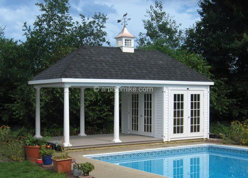 Pool House Sheds Classic Hip Sheds Amish Mike Add