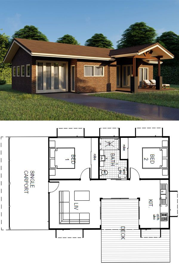 Pin On 2 Bedroom Architectural Kit Home Designs By Imagine Kit Homes Www Imaginekithomes Com Au