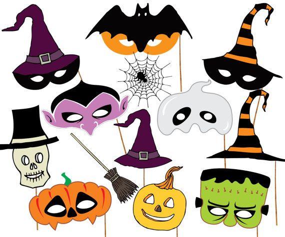 """Fiesta de Halloween Photo booth Props: """"Máscaras de HALLOWEEN"""" máscaras imprimibles stand accesorios niños máscaras props halloween photobooth partido apoyos de la foto"""