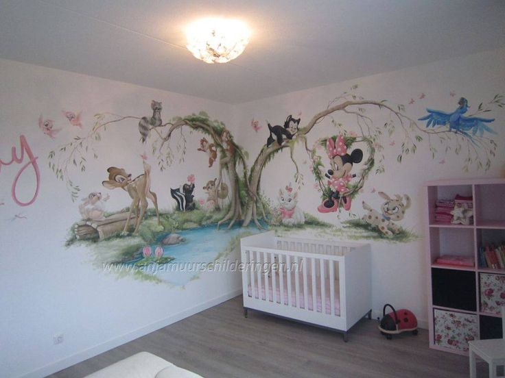 107 best images about baby kamer on pinterest disney for Baby mural wallpaper