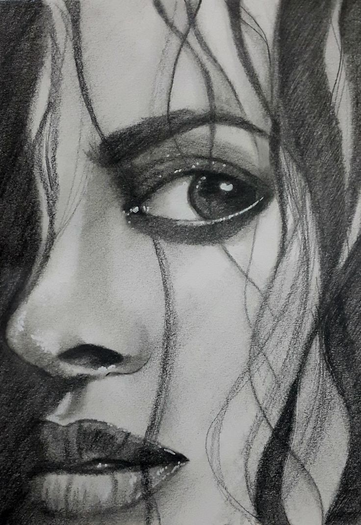 A lady in pencil