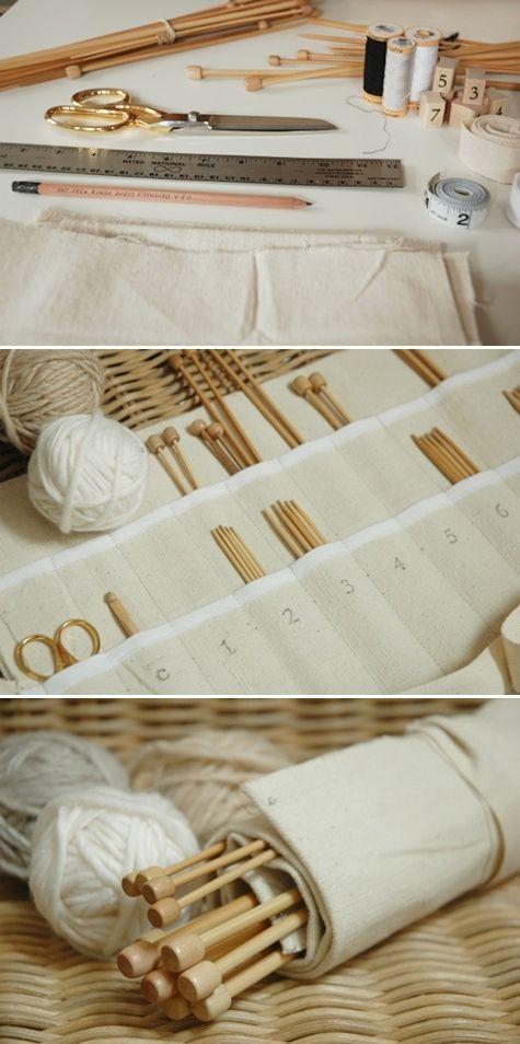 DIY: knitting needle case