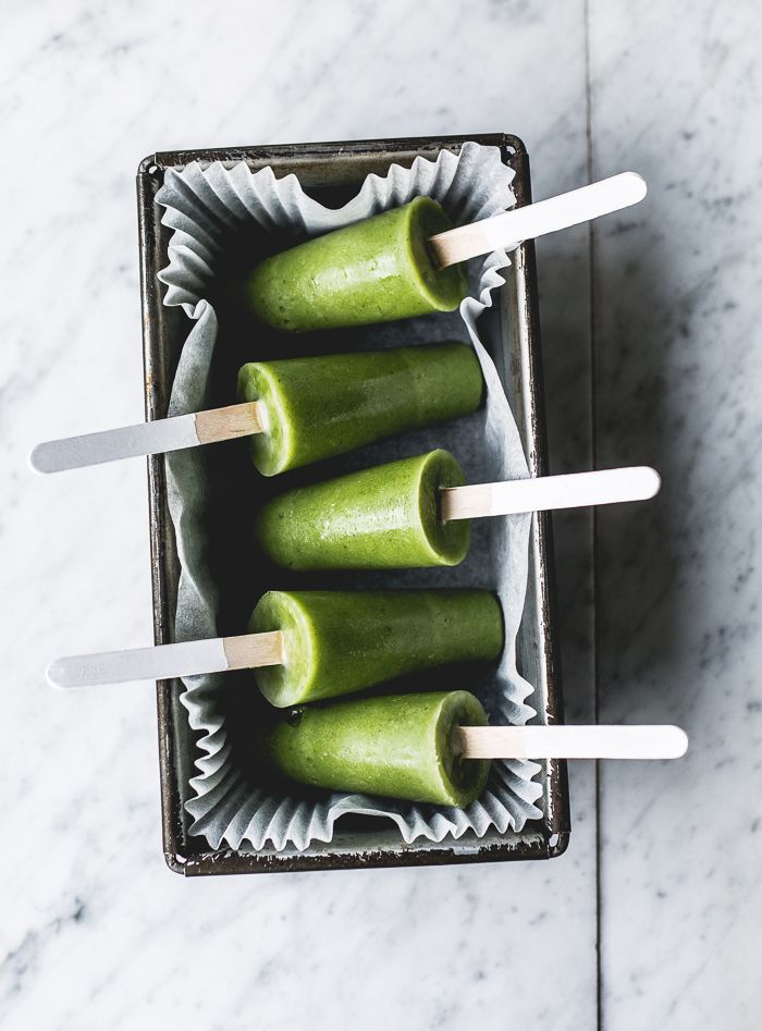 green smoothie detox pops