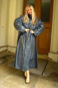Kleppermantel-Klepper-Rillo-Gummi-Rubber-Raincoat-Regenmantel-RIESIG-1A-Zustand