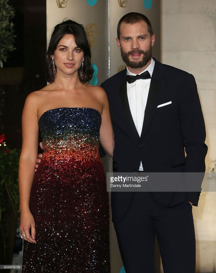 Amelia Warner and Jamie Dornan attends the official after party for the 70th EE British Academy Film Awards (BAFTA) at The Grosvenor House Hotel on February 12, 2017 in London, England.