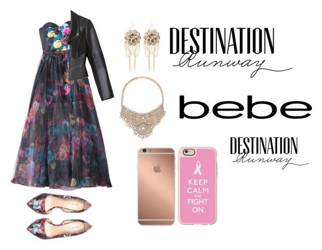 """Destination Runway with bebe : Contest Entry"" by mloperamarin on Polyvore featuring moda, Bebe, Casetify, Mura y beiconic"