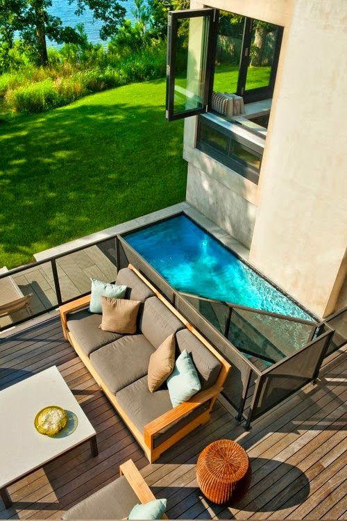 Perfekt Backyard Deck And Small Pool Idea. WasserkennzeichenVerandasKleiner Pool  IdeenKleine ...