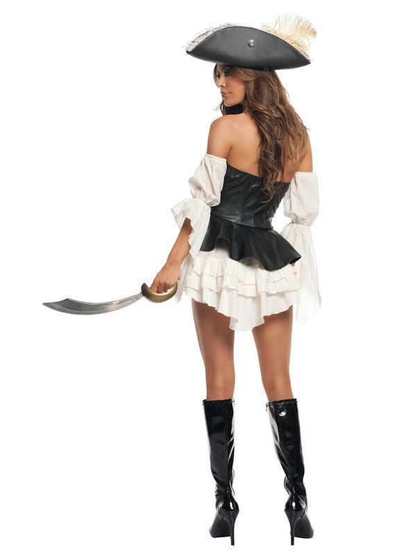 Check out Sexy Black Pearl Pirate Costume - Sexy Pirate Halloween Costumes from Costume Super Center