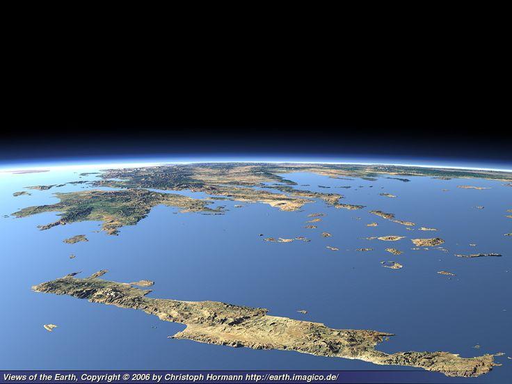 Views of the Earth! Crete...