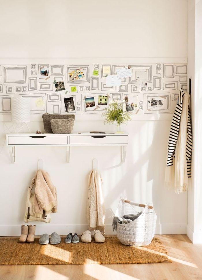 1001 Idees Deco Pour Transformer Son Interieur Avec Un Le De Papier Peint Papier Peint Deco Papier Peint Console Murale