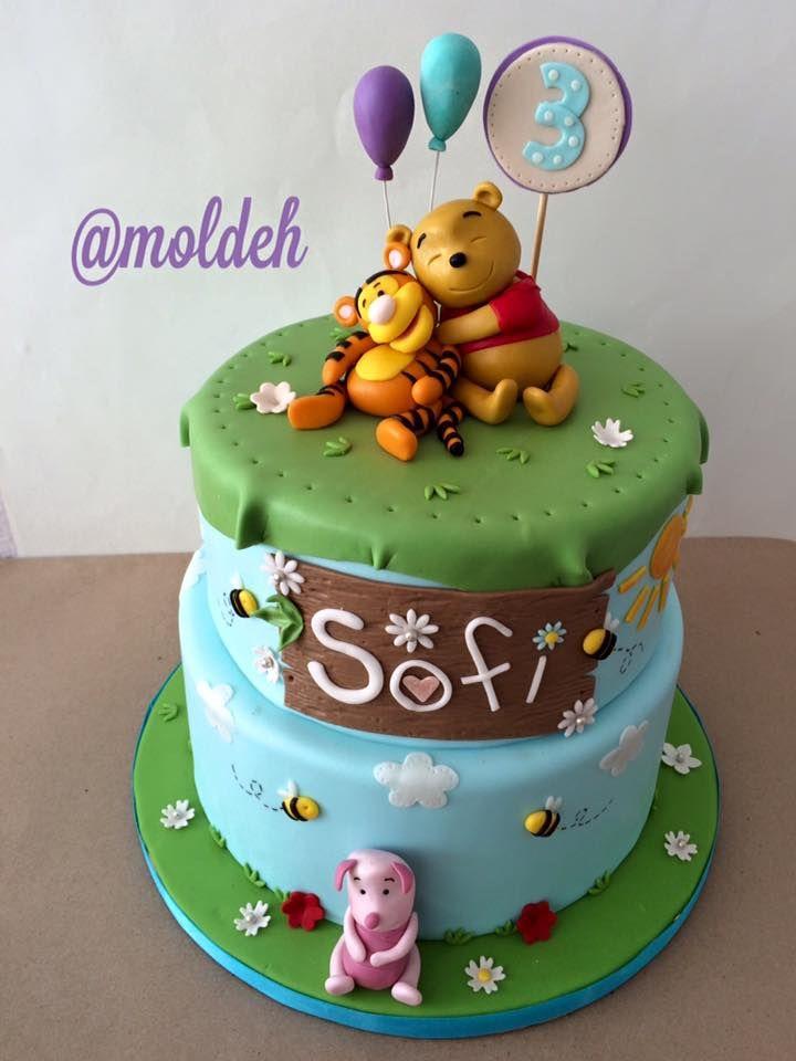 Pastel de Winnie Pooh para el Cumple 3 de Sofi // Sofi's 3rd birthday Winnie Pooh cake