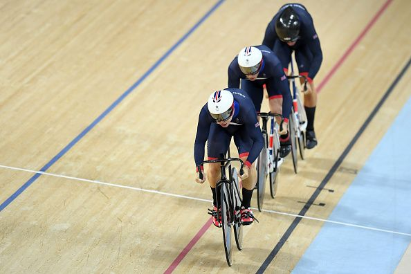 Olympic Champions: Philip Hindes, Jason Kenny and Callum Skinner (Men's team sprint cycling)