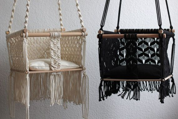 17 best ideas about baby swings on pinterest baby diy for Diy macrame baby swing