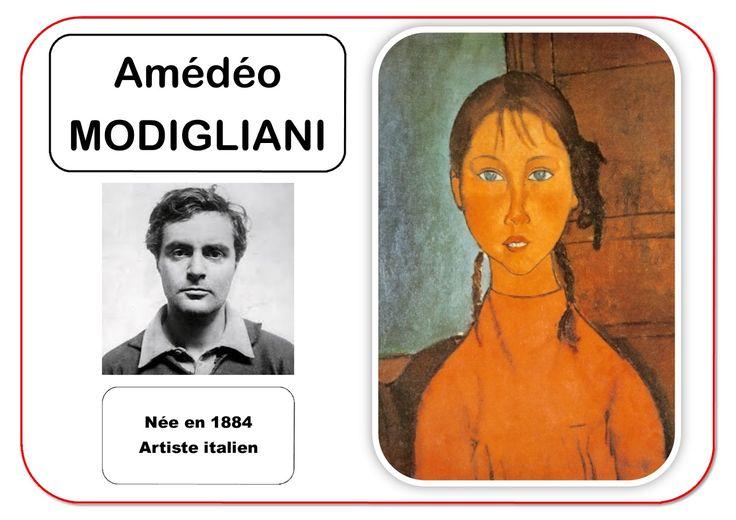 Amédéo Modigliani - Portrait d'artiste