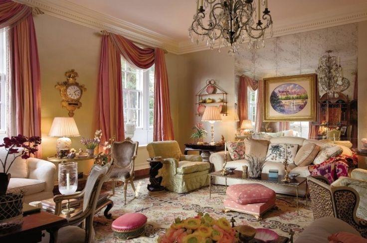 Фото шторы в пастельных тонах для большой гостиной. Марио Буатта (Mario Buatta) фото | Шторы от лучших дизайнеров мира | Декатель Новосибирск