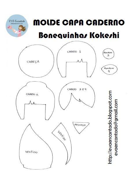Molde+Bonequinha+Kokeshi.bmp (450×614)