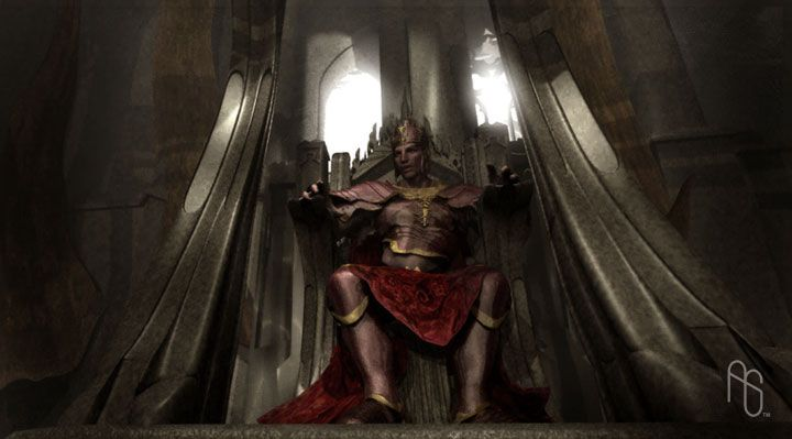 King on Throne Concept by *aaronsimscompany on deviantART
