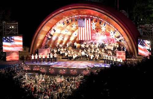 Boston Fireworks and Boston Pops Concert - held every year at the Esplanade along the banks of the Charles River