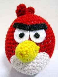 Free Crochet Pattern - Angry Birds Hat Red Bird