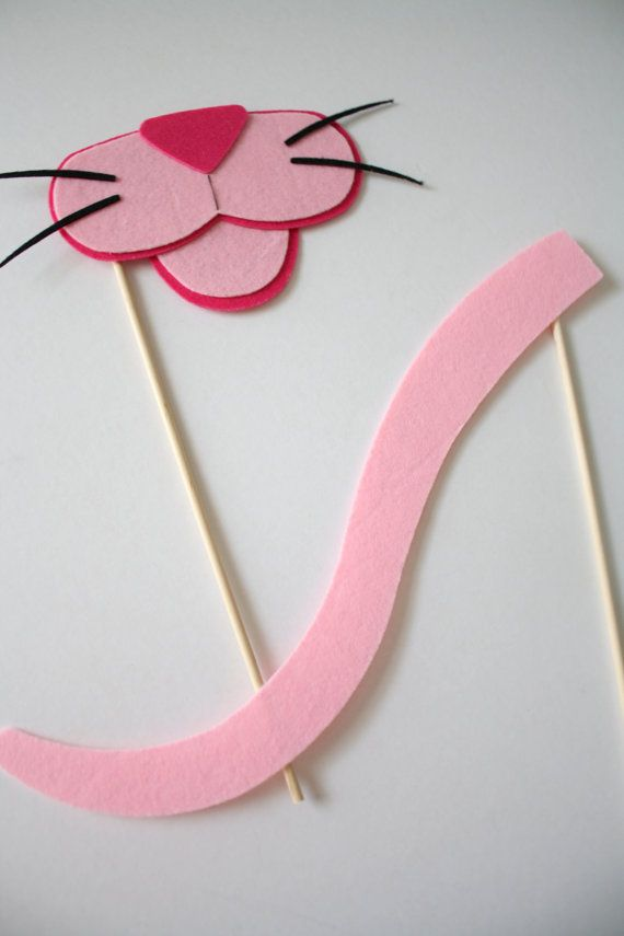 Party Props. Wedding Photo Props. Mustache. Photo Props. Photo booth Props. Props on a Stick - The Hot Pink Panther Maro Kit. $11,95, via Etsy.
