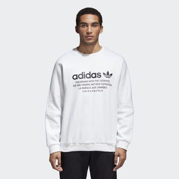 NMD Crew Sweatshirt White CE1614   Mens