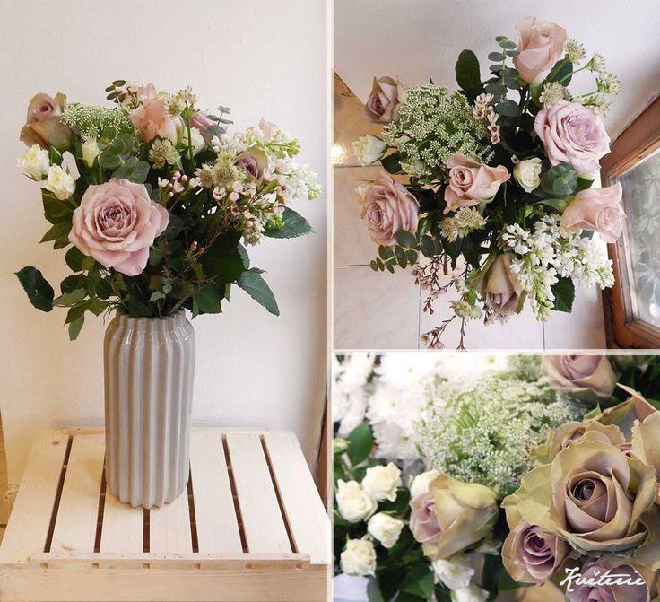 blush roses, menta, memory lane, ammi, syringa, astrantia, bouquet