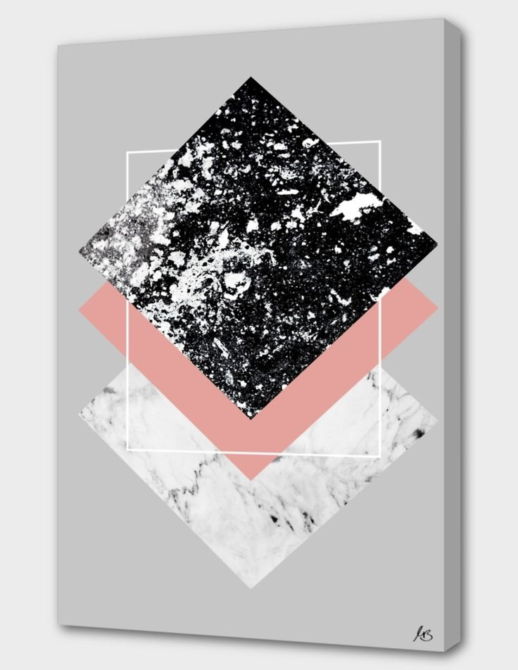 «Geometric Textures 1» Canvas Print by Mareike Böhmer – Numbered Edition from $59