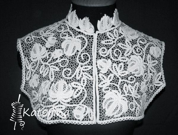 Ажурная вставка для блузки | Трикотажная симфония