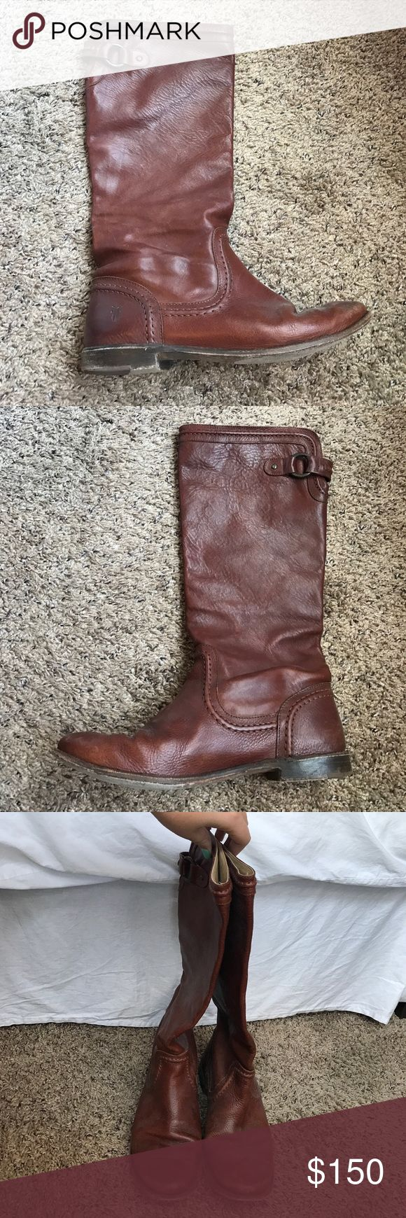 Frye Tall Boots Frye tall boots. Perfect for summer dresses and for fall. Soft leather. Leather soles. Beautiful stitching. Frye Shoes Ankle Boots & Booties