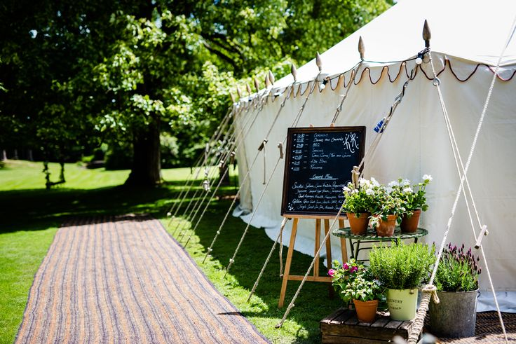 Coir walkway to the entrance of a Traditional Canvas Pole Tent by LPM Bohemia - The Tent Co Ltd