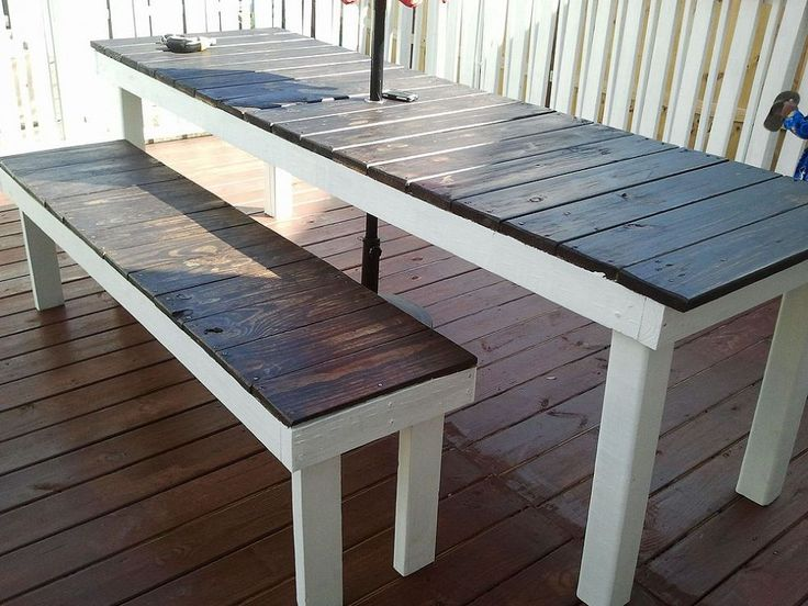 Farmhouse Outdoor Table and Bench