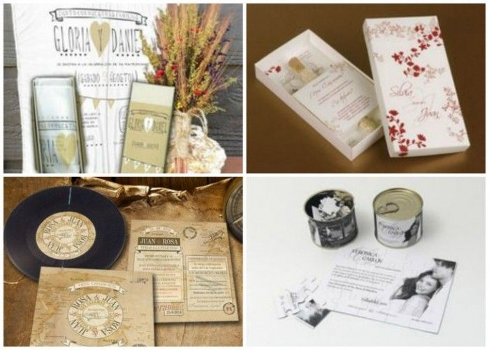 Invitaciones de boda originales y diferentes. No te pierdas las propuestas en http://www.diariodeunanovia.es #invitaciones #invitacionesdeboda #invitacionesoriginales #diariodeunanovia