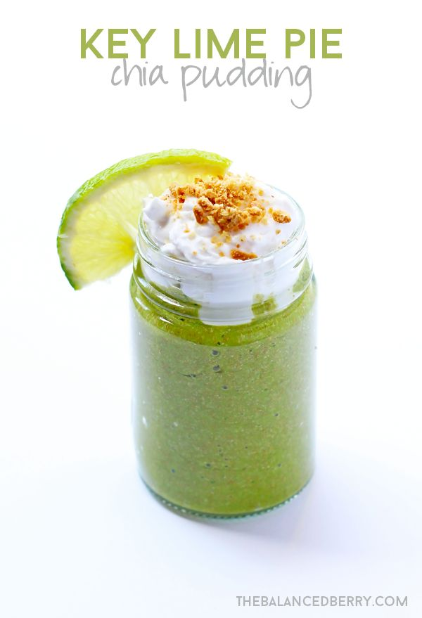 Key Lime Pie Chia Pudding - a sweet, refreshing dessert! via thebalancedberry.com