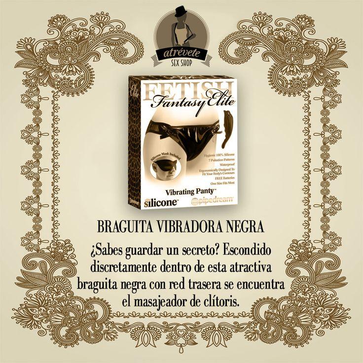 #Sexshop #Sevilla #Juguetes Braguita vibradora negra. http://atreveteshop.es/ropa-con-vibracion/2682-fetish-fantasy-elite-braguita-vibradora-negra-dr-32-2554dp.html