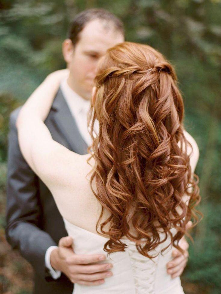 Einfache Hochzeitsfrisuren Half Up Half Down Einfache