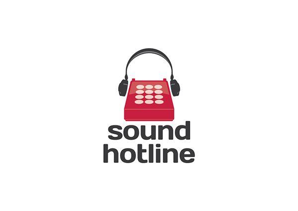 Sound hotline, Logo Design, Branding. Media Branding. Designed by Paper Aeroplane Creative www.paperaeroplane.co.uk