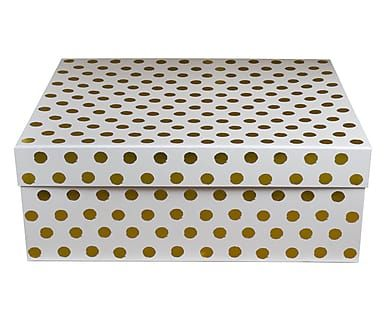 Opbergdoos Lovely Blooms, goud/wit, B 50 cm