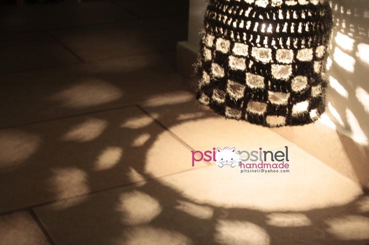 crocheted ceiling light made by Psipsinel Handmade  https://www.facebook.com/pitsineli
