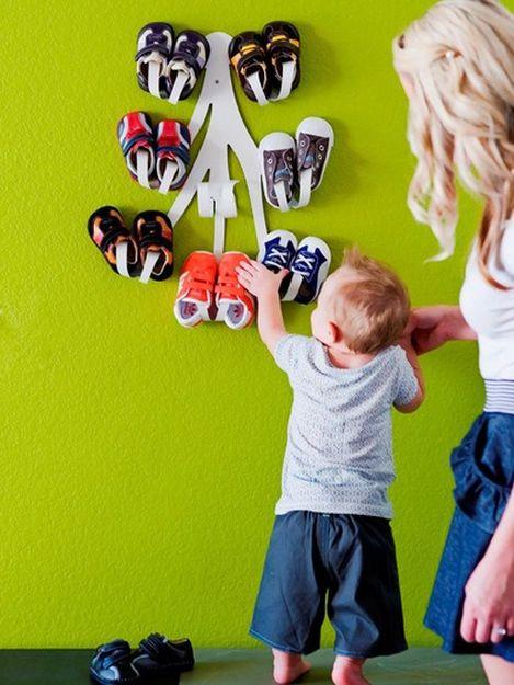 хранение детской обуви