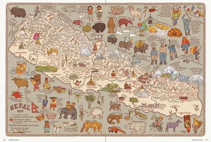 Nepal Map - Aleksandra Mizielinska and Daniel Mizielinski