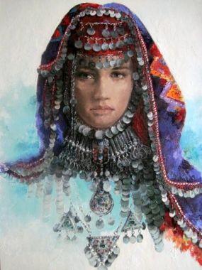 Remzi İren -.Turkish Painrter..Sivas head-dresses
