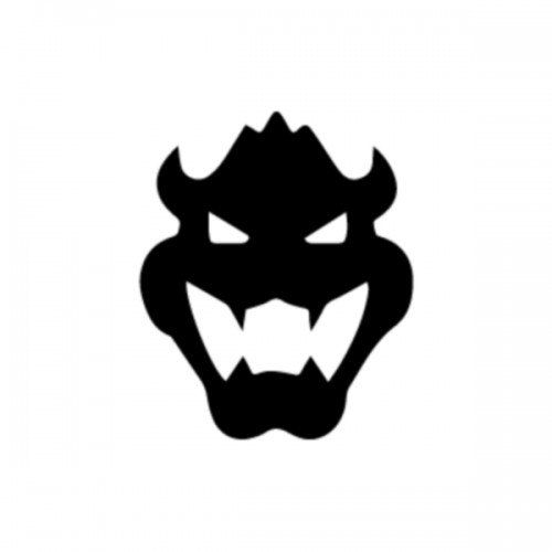 Mario Bowser Head Die-Cut Decal Car Window by BeeMountainGraphics