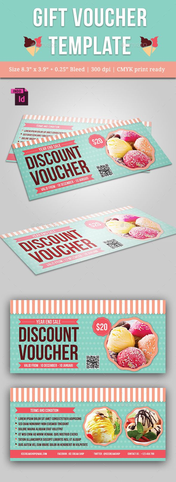 Gift Voucher Template PSD #design Download: http://graphicriver.net/item/gift-voucher/13622476?ref=ksioks