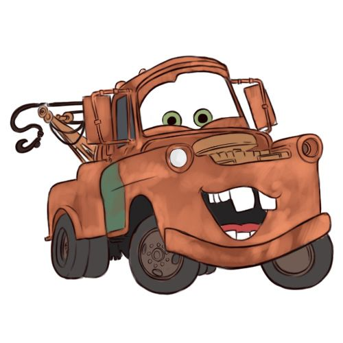 How to Draw Mater from Cars -- via wikiHow.com