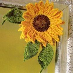 Haakpatroon zonnebloem decoratie