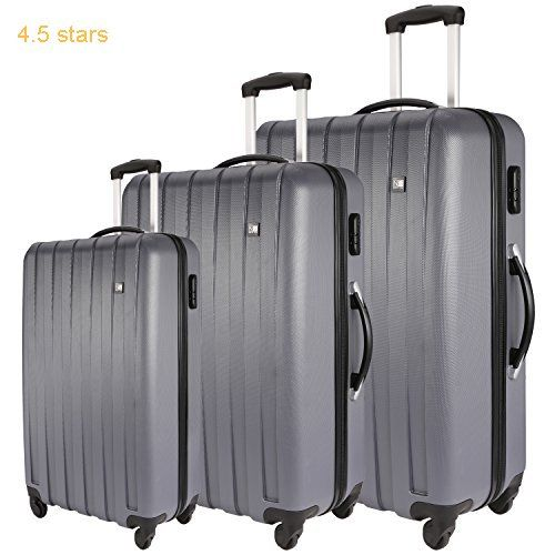 98f54e58880c Nasher Miles Grey Abs Hardsided Set Of 3 Luggage Set (55 65   75 Cm ...