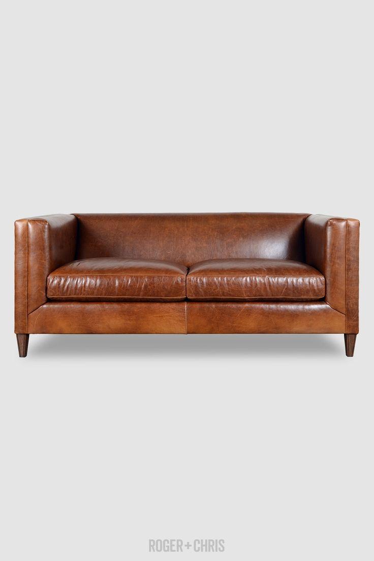 leather tuxedo sofa