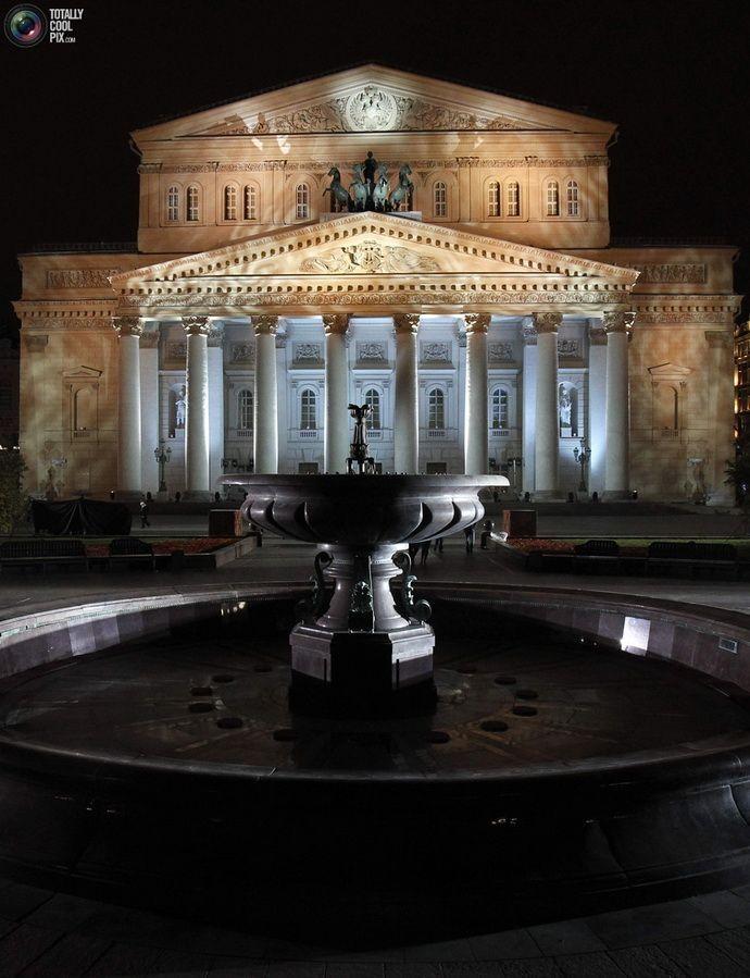 & Creme de la creme: Bolshoi theatre, Moscow, Russia after renovation .