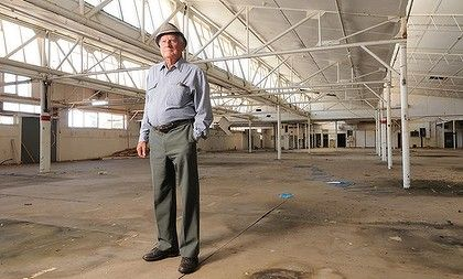 Jack Caple, 93, worked for Fletcher Jones for 33 years. TNow the factory is a shadow of its former self.